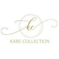 THE LETTERS KC APPEARING IN A LOWERCASE SCRIPT FONT INSIDE OF THE INTERSECTING CIRCLES AND THE WORDS KARE COLLECTION IN UPPERCASE BLOCK FONT APPEARING BELOW THE CIRCLES