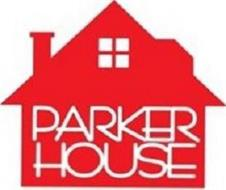 OUTLINE OF A HOUSE APPEARING IN RED WITH THE WORDS PARKER HOUSE APPEARING IN WHITE ALL CAPS LETTERING IN STACKED FORMATION WITHIN THE RED HOUSE UNDERNEATH A FOUR PANEL WINDOW APPEARING WHITE, ALL OF WHICH APPEARS ABOVE THE WORDS SINCE 1919 FLOATING ABOVE A RED LINE.