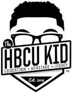 THE HBCU KID EDUCATION HERITAGE LEGACY EST 2016 TM