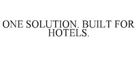 ONE SOLUTION. BUILT FOR HOTELS.