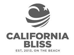 CALIFORNIA BLISS EST. 2013. ON THE BEACH