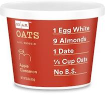 RX AM OATS 12 G. PROTEIN APPLE CINNAMON 1 EGG WHITE 9 ALMONDS 1 DATE 1/3 CUP OATS NO B.S.