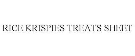 RICE KRISPIES TREATS SHEET