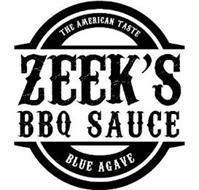 THE AMERICAN TASTE ZEEK'S BBQ SAUCE BLUE AGAVE
