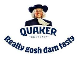 QUAKER ESTD 1877 REALLY GOSH DARN TASTY