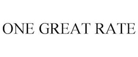 ONE GREAT RATE