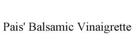 PAIS' BALSAMIC VINAIGRETTE