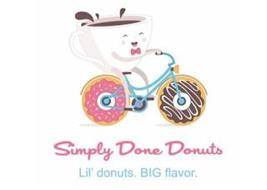 SIMPLY DONE DONUTS LIL DONUTS. BIG FLAVOR