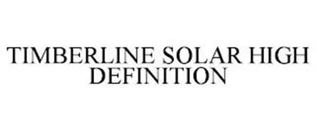 TIMBERLINE SOLAR HIGH DEFINITION