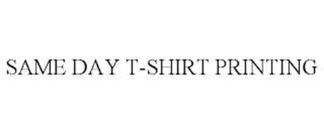 SAME DAY T-SHIRT PRINTING