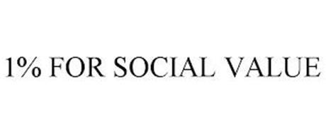 1% FOR SOCIAL VALUE