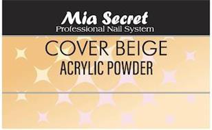 MIA SECRET PROFESSIONAL NAIL SYSTEM COVER BEIGE ACRYLIC POWDER