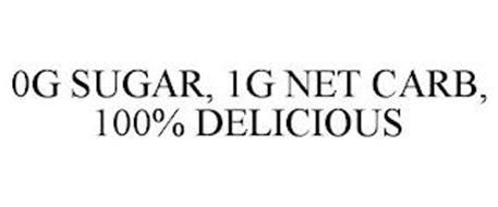 0G SUGAR, 1G NET CARB, 100% DELICIOUS