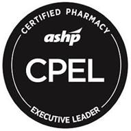 CERTIFIED PHARMACY ASHP CPEL EXECUTIVE LEADER