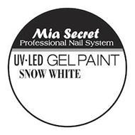 MIA SECRET PROFESSIONAL NAIL SYSTEM UV·LED GEL PAINT SNOW WHITE