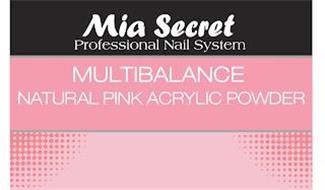 MIA SECRET PROFESSIONAL NAIL SYSTEM MULTIBALANCE NATURAL PINK ACRYLIC POWDER
