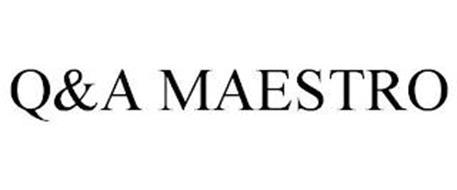 Q&A MAESTRO