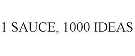 1 SAUCE, 1000 IDEAS