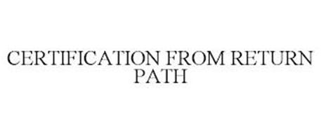 CERTIFICATION FROM RETURN PATH