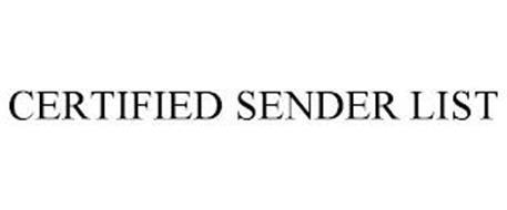 CERTIFIED SENDER LIST