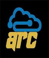ARC BLUE CLOUD WITH GOLDEN YELLOW LETTERS