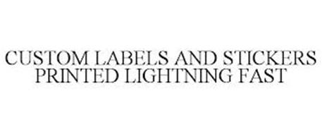 CUSTOM LABELS AND STICKERS PRINTED LIGHTNING FAST