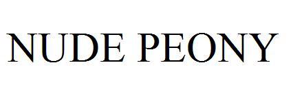 NUDE PEONY